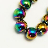 Hematite Rainbow Non Magnetic Round Beads 6mm 73 Pcs DIY Jewellery Making
