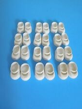 "Vintage Lot (12) White Rubber Slip On Shoes for 8"" Doll, Ginny, Alex-Kins, Muffi"