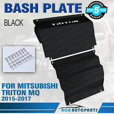 Intercooler Sump Guard Bash Plate for Mitsubishi Triton MQ 2015-2017 Black