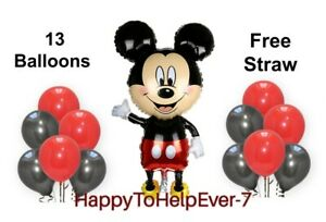 Mickey Minnie Mouse Theme Birthday Party Foil Air or Helium Fill Balloon UK sell