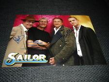 SAILOR signed Autogramme auf 20x30 cm Foto InPerson LOOK