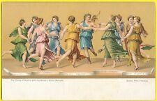 cpa ILLUSTRATION DANSE d'APOLLON et des MUSES FANTASY DANCE GREEK MYTHOLOGY