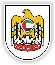 United Arab Emirates Coat of Arms Sticker for Helmet Bumper Door Guitar Laptop