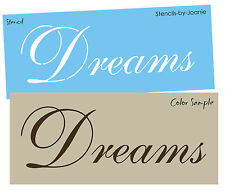 STENCIL Dreams Fancy French English Shabby Cottage Bedroom craft Signs U paint
