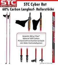 60% Carbon Langlauf Roller Skistöcke Skating Stöcke NEU 150 cm - 170 cm