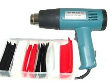 1500W Heat Gun w/out Accessories PLUS 90pc Heat Shrink Tube Assortment Wrap NEW