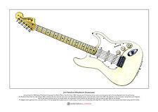Jimi Hendrix's Woodstock Stratocaster Limited Edition Fine Art Print A3 size