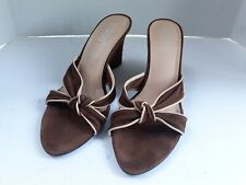 Franco Sarto Womens Brown Suede Leather Wedges Pointed Toes Shoes Heels 7.5 M