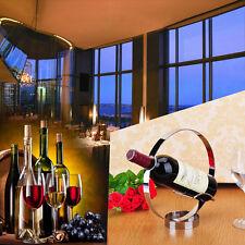 Stainless Steel Wine Rack Holder Single Bottle Shelf Tabletop Kitchen Display
