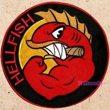 Hellfish Shield Logo Big Patch The Simpsons Sergeant Grampa Abe Back Embroidered