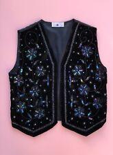 New Look Old Label Top Waistcoat Vintage New Look Beaded Y2k 2000s Velvet