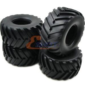 4pcs 2.2 Monster Big foot Badland Truck Tires Fit RC 4WD Axial RPM 2.2 Wheel Rim