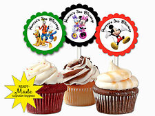 Mickey Mouse Clubhouse themed personalized cupcake toppers birthday party favors