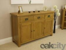 Dining Room Oak More than 200cm Sideboards & Buffets