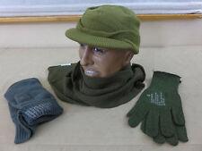 US Army ww2 VINTAGE INVERNO Set JEEP CAP BERRETTO SCIARPA GUANTI GLOVES