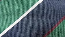 ATKINSONS IRISH POPLIN GREEN NAVY STRIPE WOOL SILK NECKTIE TIE HMY0517A #A21