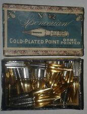Spencerian No. 42 Gold Plated Point Pen Nibs lot of 12
