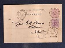 Malmedy 1886 uprated maximum stationery postal card to Venlo Holland