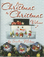 From Christmas to Christmas Vol 2 Sandra Malone Painting Book NEW