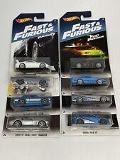 Hot Wheels 2017 Walmart Exclusive Fast & Furious Set of 8 S2000 Escort 911 GT3RS