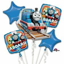 Thomas the Train Themed 5pc Happy Birthday Supershape Foil Balloon Bouquet