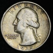 1935-S Washington Quarter CHOICE VF+/XF FREE SHIPPING E354 KL