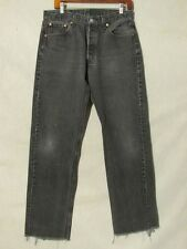 D8913 Levi's 501 Black USA Made Cut Off Cool Jeans Men's 31x32