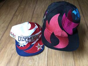 Vintage 1990s Starter USA Olympic Team Hat Lot Dream Team United States Snapback