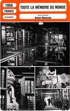 FICHE CINEMA : TOUTE LA MEMOIRE DU MONDE - Jacques Dumesnil,Alain Resnais 1956