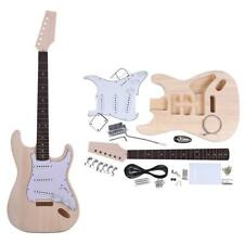 DIY Unfinished Project Luthier Guitar Kit Basswood Body Rosewood Fingerboard