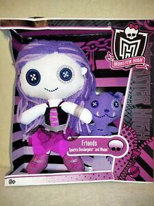 Monster High Spectra Vondergeist & Rhuen - Plush Dolls 2011 BNIB. DAMAGED  BOX!