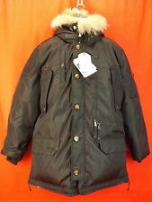 NWT PAJAR CANADA BLACK NYLON COYOTE FUR HOODIE EAGLE GOOSE DOWN JACKET XL