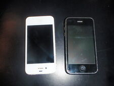 Lot of 2 Apple iPhones 3G and 4G  - 16GB - Black & Silver
