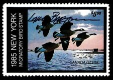Ny1 - 1985 New York Duck Duck Stamp Signed by Artist Larry Barton Ognh
