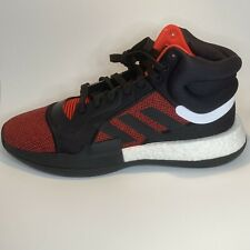 adidas Men Marquee Boost  Basketball Sneakers G27735 Red Black Size 11