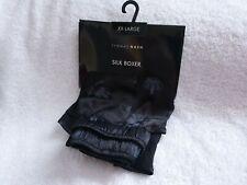 Thomas Nash Mens 100% Silk Boxer Short Crown Jewels Print Underwear XXL
