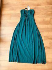 VILA MAXI COCKTAIL DRESS Teal Green Cruise Bridesmaid Wedding M / UK 12 / 40 NEW