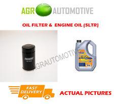 PETROL OIL FILTER + LL 5W30 ENGINE OIL FOR SUZUKI SX4 S-CROSS 1.6 120BHP 2013-