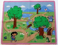 Dora the Explorer Adventure Play Rug Kids Carpet Rubber Back Mat Boots Swiper