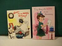 NORCROSS vintage greeting card BOOKLETS  humorous husband/ wife