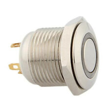 16mm 3V Blue Power LED Momentary On/Off Push Button Metal Switch for Car Auto