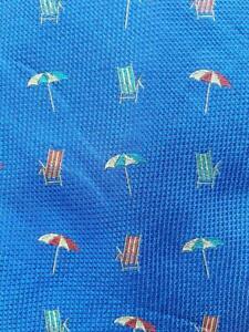 TOMMY BAHAMA OFF ISLAND BEACH CHAIR UMBRELLA BLUE SILK NECKTIE TIE MJL2021B #Y13