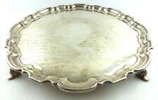 Tablett Ehrengeschenk Botschafter mit Unterschriften 925er Sterling Silber e1311