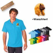 Polo Shirt Polo Shirt Embroidered Cotton Afghan Greyhound + Text of Your Choice
