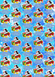 MICKEY MOUSE Personalised Christmas Gift Wrap - Mickey Mouse Wrapping Paper d2