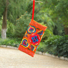 Women Ethnic Handmade Coin Purse Embroidered Wristlet Clutch Bag Vintage Wallet
