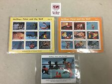 1994 Walt Disney World Collectible Peter and the Wolf Maldives Stamps w/ COA NEW