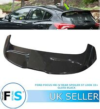 FORD FOCUS ST STYLE LOOK 2019+ MK4 BOOT ROOF SPOILER GLOSS BLACK OEM-FIT