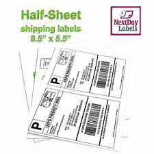 500 Shipping Labels for Ebay, Click N Ship, UPS, Paypal, 250 sheets, Made in USA