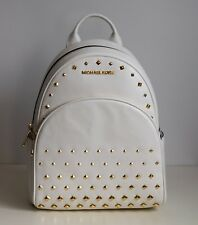 MICHAEL KORS Damen Tasche ABBEY MD STUDDED BACKPACK Rucksack optic white